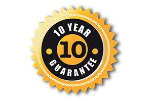10 Year Guarantee sticker