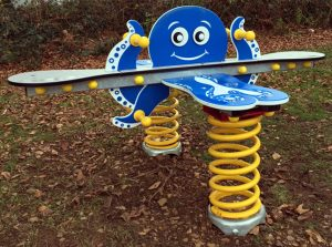 An octopus play springy for children