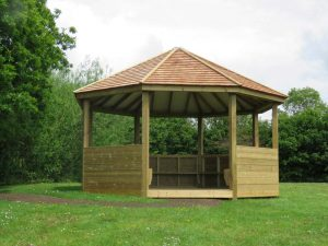 A shelters or outdoor classroom
