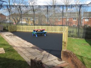 Finished play area safety surfacing