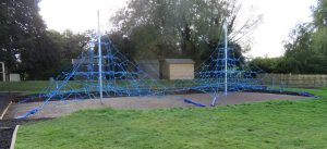 Space nets in play area in Devon school