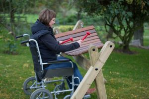 Inclusive play with wheelchair friendly instruments