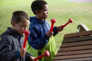 Akadinda outdoor wooden glockenspiel