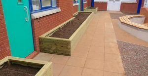 Bespoke planters for school play areas