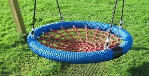 Blue birds nest swing