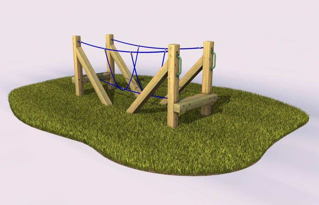 Burma bridge play equipment for schools
