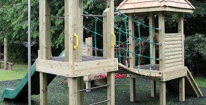 A big range of playground equipment