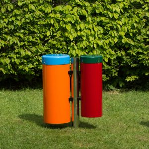 Colourful conga drums in play area