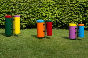 Conga drums in a play space