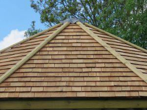 Dartmouth gazebo wooden roof tiles