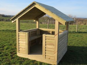 Devon play house shelter with seating
