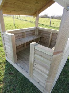 Devon play house shelter in a park