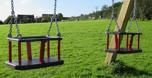 Double cradle swing for toddlers