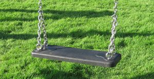 Double flat swing set