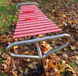 Marimba outdoor xylophone in play area