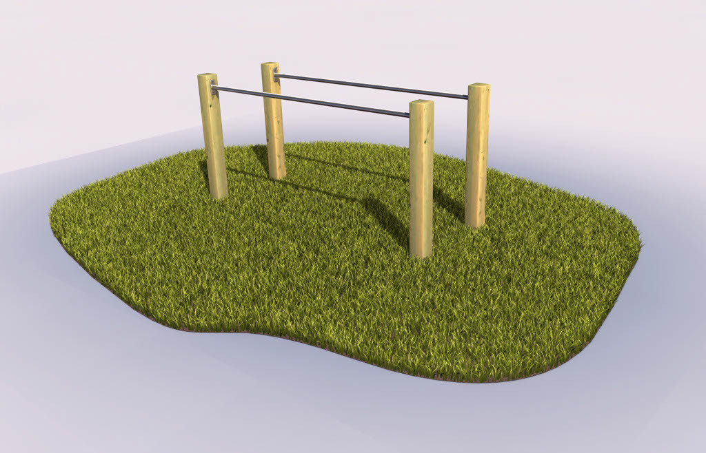 Parallel bars in the playground