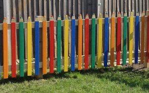 Pencil fencing in school playground