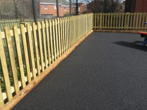 Picket fencing at school