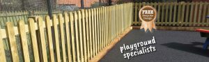 Picket Fencing around a school play area