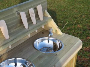 Outdoor play kitchen for playground