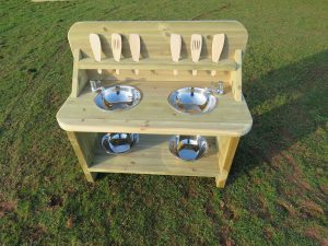 Outdoor play kitchen for children