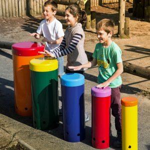 Rainbow Sambas being played by shildren