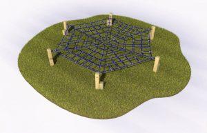 Spiders web crawl play equipment