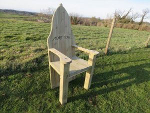 Wooden story tellers chair