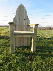 Wooden storytime chair