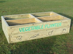 Wooden vegetable planter