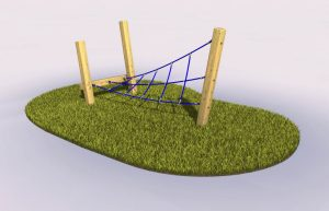 Web walk netted play equipment
