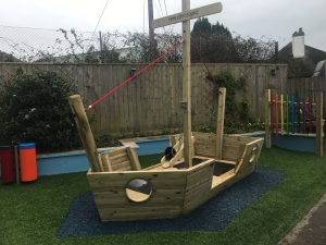 A play area transformed for childrens school in Devon