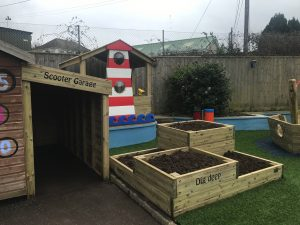 A scooter garage for a school play area in Devon