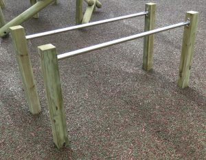 Parallel bars for kids outdoor play time
