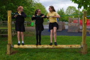 A childrens play favourite the rolling log