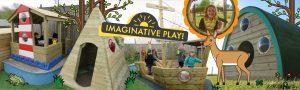 Wooden play equipment for children