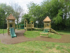 Wooden play tower installed at Ann Edwards