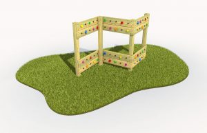 A traversing wall - great fun play for kids