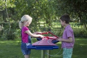 Outdoor musical play equipment for children