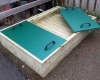 School play ground sand pit with cover