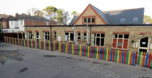 Primary scool with new pencil fencing