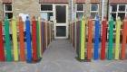 Fun pencil fencing at nursery school