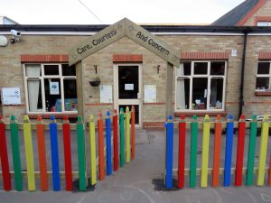 Wooden pencil fence for nurseries