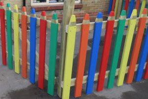 Wooden pencil school fencing