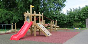 Wooden adventure trails installed in school play area