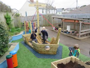 This wooden pirates play boat proves popular