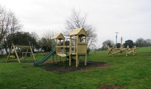 Holiday cottages play area in Devon
