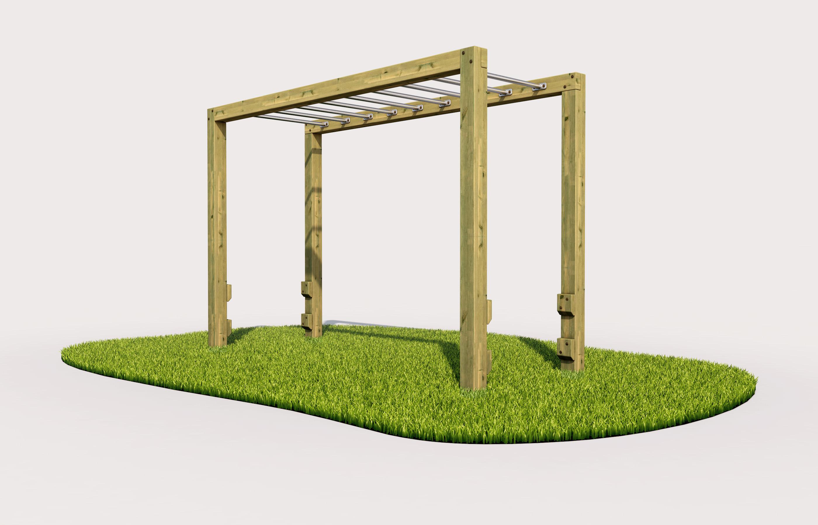 Monkey bars outdoor play