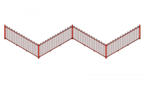 Bow top fencing in red