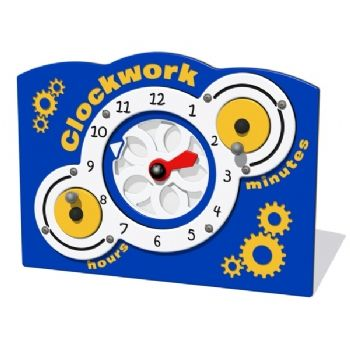 A clockwork activity panel for kids